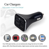 4 Port USB Dual Car Charger Adapter for iPhone6 (Black) - thumbnail 3