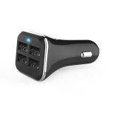 4 Port USB Dual Car Charger Adapter for iPhone6 (Black) - thumbnail 1