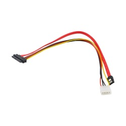 40cm 15+7 Pin Power/Data to 4 Pin IDE Power SATA Data Hard Cable