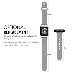 42mm Watch Band,Durable Soft Silicone Replacement iWatch Band Sport Style Wrist Strap for Apple