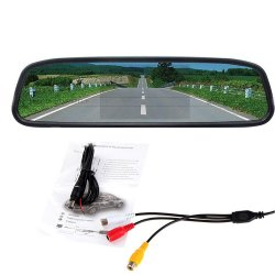 4.3 inch Rearview Rear View TFT LCD Mirror Monitor for Car Reverse Camera/DVD/VCR - intl