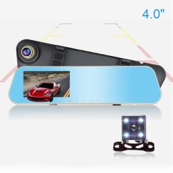 4.3inch Full HD 1080p Dual Lens Large Angle Car Camera Rearview Auto DVRs Cars DVR Night Vision Parking Video Recorder