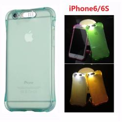 "4.7"" Incoming Call Light LED Flashing TPU Case Cover Cases for iPhone6/6S Mobile Phone Bag"