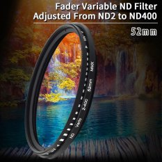 52mm Slim Fader Variable Nd Filter Neutral Density Adjustable Nd2 To Nd400 By Xcsource Shop.
