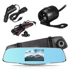 "5"" 1080P Dual Lens Car DVR Rearview Mirror Camera Video Recorder Dash Cam - intl"