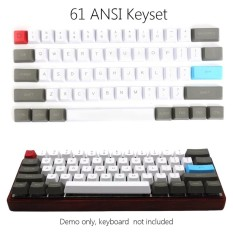 61 Key ANSI Layout OEM Profile PBT Thick Keycaps for 60% Mechanical Keyboard - intl