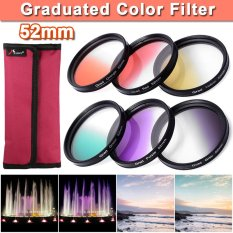 6pcs 52mm Graduated Color Filter Kit For Nikon D7000 D5200 D90 D80 Dslr By Xcsource Shop.