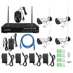 720P HD 4CH Wireless NVR Kit Wifi IR IP Camera Outdoor P2P CCTV Security System US - intl