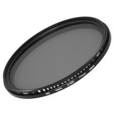 77mm Fader Variable Nd Filter Neutral Density Lf028-Sz (black) By 3d Pro Xcsource.