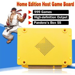 999 IN 1 Pandora's Box 5S Games Arcade Video Console CPU Board English Version Yellow - intl