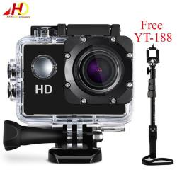 A7 Ultimate Sports Action Cam Under Water Extreme (Black) with FREE YunTeng YT-188 Universal Monopod for Mobile Phones and Sports Cameras (Black)