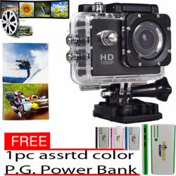 A7 Ultimate Sports Action Cam Under Water Extreme HD 1080P (Black) with free 1 pc assrtd color  20000 P.G. Power Bank