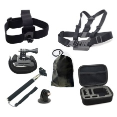 Action Camera Accessories Helmet Harness Chest Belt Head Mount Strap Monopod For Hero Session SJCAM SJ4000
