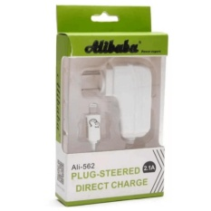Alibaba 1.5m Fast-Charging 90-Degree Rotation USB Travel Charger with LED Light