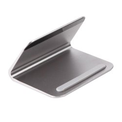 Aluminum Stand Holder For Smartphone iPad Tablet Macbook PC Laptop(Grey) - intl