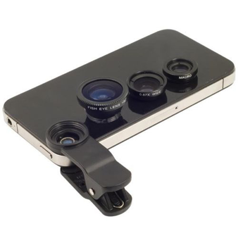 AMango 3 in 1 Universal Clip on Camera Lens for Cell Phones (Black) product preview, discount at cheapest price