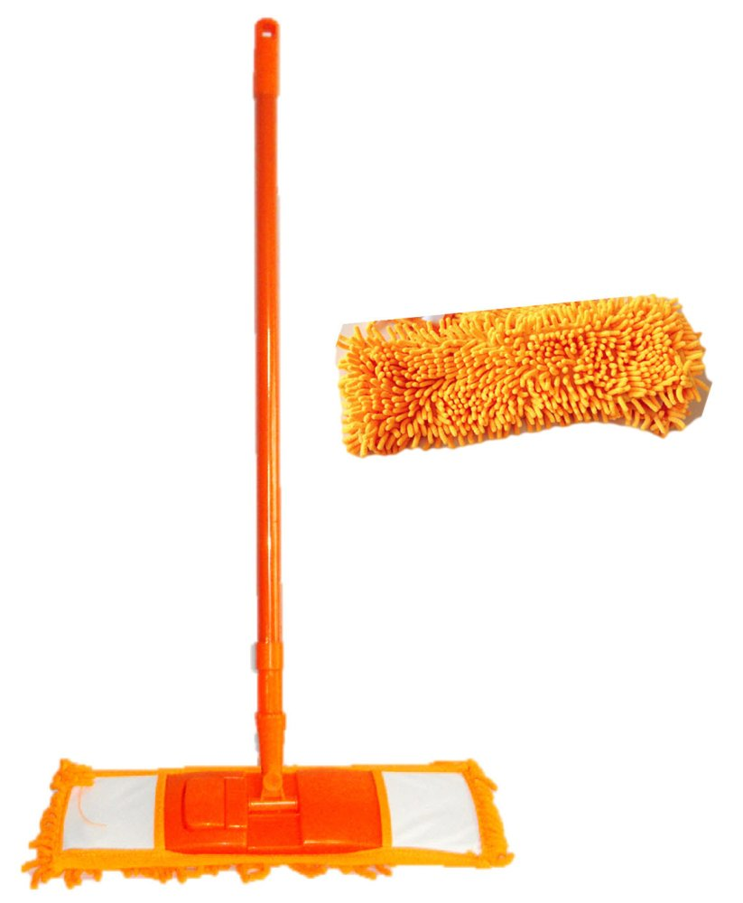 Amazing Microfiber Swivel Mop (Orange) with Mop Head Refill product preview, discount at cheapest price