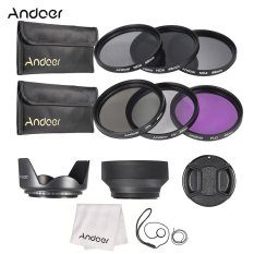 Andoer 49mm Lens Filter Kit Uv+cpl+fld+nd(nd2 Nd4 Nd8) With Carry Pouch / Lens Cap / Lens Cap Holder / Tulip & Rubber Lens Hoods / Cleaning Cloth - Intl By Tomtop.