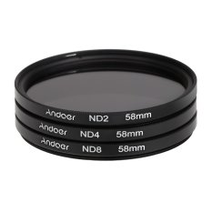 Andoer 58mm Fader Nd Filter Kit Neutral Density Photography Filter Set (nd2 Nd4 Nd8) For Nikon Canon Rebel T5i T4i Eos 1100d 650d 600d Dslrs By Outdoorfree.