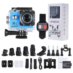 "Andoer AN4000 4K 30fps 16MP WiFi Action Sports Camera 1080P 60fps Full HD 4X Zoom Waterproof 40m 2"" LCD Screen 170 degree Wide Angle Lens Support Slow Motion Drama Photography w/ Remote Control - intl"