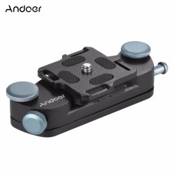 Andoer Metal Quick Release Camera Waist Belt Strap Buckle Button Mount Clip for Canon Nikon Sony DSLR Cameras Max. Load Capacity 20kg - Intl