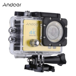 "Andoer Q3H 2"" Ultra-HD LCD 4K 25FPS 1080P 60FPS Wifi Cam FPV Video Output 16MP Action Camera 170Wide-Angle Lens with Diving 30-meter Waterproof Case - intl"