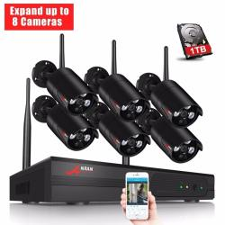 ANRAN 8CH Wireless NVR Surveillance System 960P HD IR Outdoor CCTV WIFI IP Security Camera System