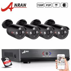 Anran AR-K04AH-03NB 4CH AHD 720P DVR Security System with 4 720P AHD Night Vision Outdoor Bullet Cameras 500G HDD(Intl)