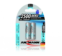 Ansmann NiMH-LSD AA x2 Blister Pack  2500mAh Battery