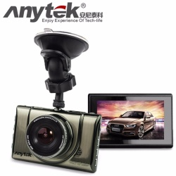 "Anytek A100+ Dash Cam HD 1080P 170 Degrees Wide Angle Dash Camera for Cars DVR Vehicle Dashboard Camera Recorder with 3"" TFT Display G-Sensor Night Vision Loop Recording Motion Detection (Silver)"