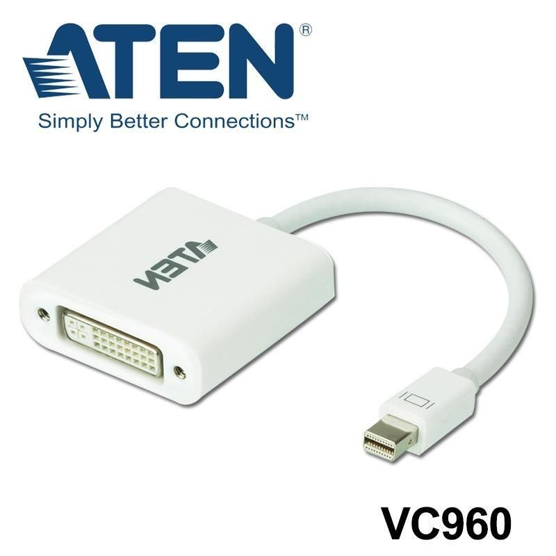 Aten Mini DisplayPort to DVI Adapter (White)(VC960) - thumbnail