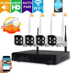 [Audio & Video] LOOSAFE 4CH 1080P Wireless WiFi Security Camera System NVR Kits(with 1TB Hard Disk),with 4x 1080P Outdoor 2.0Megapixel WiFi IP Cameras, Auto-Pair, NVR built-in Router,IP66 Waterproof Remote access - intl