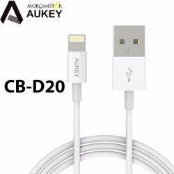 AUKEY CB-D20 3.3ft. MFI LIghtning 8 pin Sync and Charging Cable (NonBraided)