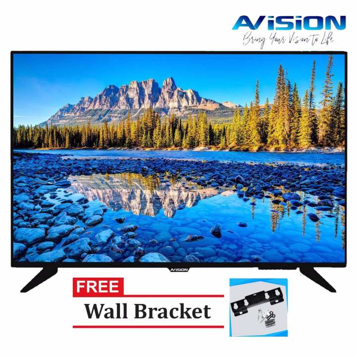 "Avision 43"" Full HD LED TV Black 43K785 with FREE Wall Bracket"