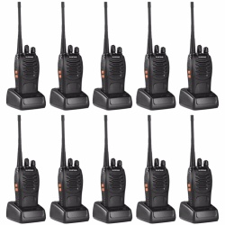 Set of 10 Baofeng 888S 5W 16Ch 400-470MHz Interphone Two-Way Radio Walkie Talkie (Black)
