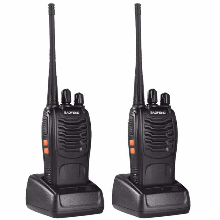Baofeng 888S 5W 16Ch 400-470MHz Interphone Two-Way Radio Walkie Talkie (Black) Set of 2