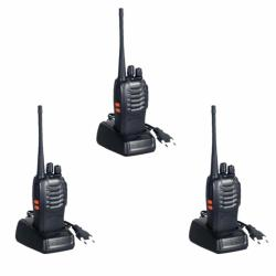 Baofeng BF-888S Portable Two-Way Radio 3PCS (Black)