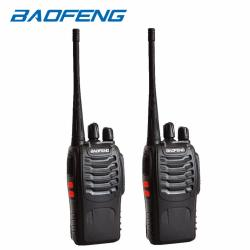 Baofeng BF-888s UHF Transceiver Two-Way Radio Set of 2 (Black)