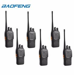 Baofeng BF-888S UHF FM TRANSCEIVER Portable Walkie-Talkie Two-Way Radio Set of 6