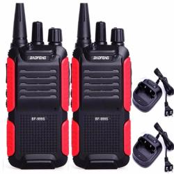 Baofeng BF-999S-Plus Walkie Talkie UHF400-470MHz-5W-16CH Transciver 2way Radio SET OF 2