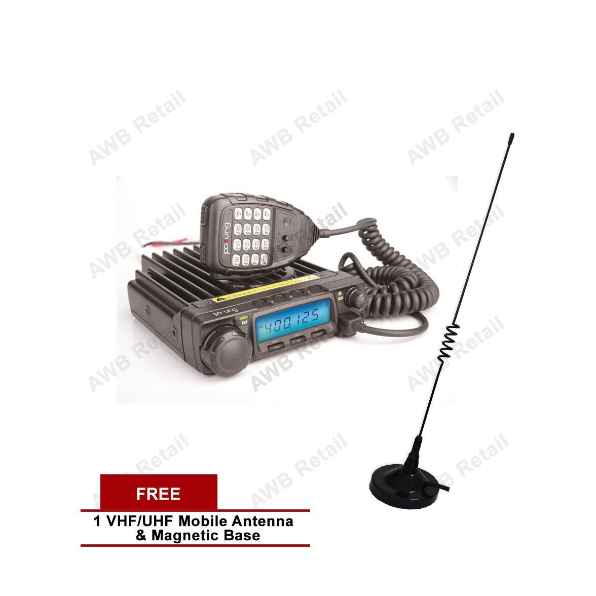 Baofeng BF-9500 UHF Mobile Transceiver Vehicle Radio (Black) with FREE UHF/VHF Mobile Antenna & Magnetic Base