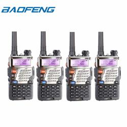Baofeng UV-5RE VHF/UHF Dual Band Two-Way Radio Set of 4 (Black)