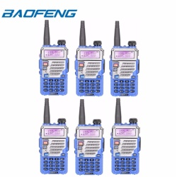 Baofeng UV-5RE VHF/UHF Dual Band Two-Way Radio (Set of 6 in Blue)