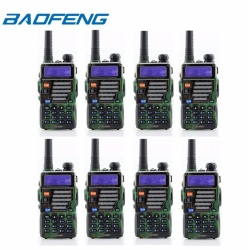 Baofeng UV-5RE VHF/UHF Dual Band Two-Way Radio (Set of 8 in Green)