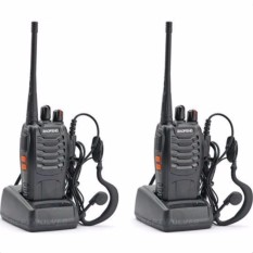 Baofeng Vhf Uhf Fm Transceiver Walkie Talkie Two-Way Radio Set Of 2 With Free Two Headset(black)bf888s By Septwolves General Merchandise.