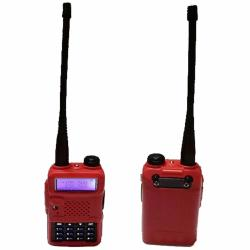 Original Baofeng/Pofung UV5R VHF/UHF Dual Band Walkie Talkie Two-Way Radio with Earpiece & Free Soft Silicon Case (Red)