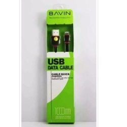 Bavin 1M Usb Quick Charging Data Cable For Iphone Series,Ipad Air...(Black)  with Free Samsung 2A 1M Micro Usb Charger Charging Sync Data Cable For Smart Phone