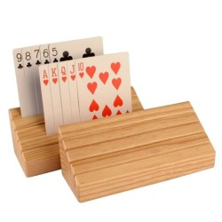 Beechwood Wooden Playing Card Holder - Set of 2 - intl