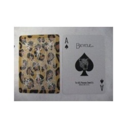 Bicycle Leopard Deck Playing Cards - Leopard Skin Back Design - intl