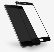 (Black) glossy carbon fiber 3d curved edge full screen tempered glass screen protector for